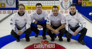 Skip: Reid Carruthers Third: Braeden Moskowy Second: Derek Samagalski Lead: Colin Hodgson Curling Canada/michael burns photo