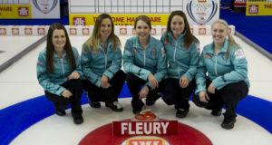 Skip: Tracy Fleury Third: Jennifer Horgan Second: Jenna Walsh Lead: Amanda Gates Fifth: Crystal Webster Curling Canada/michael burns photo