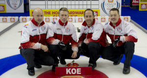 Skip: Kevin Koe Third: Marc Kennedy Second: Brent Laing Lead: Ben Hebert Curling Canada/michael burns photo