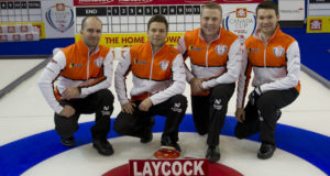 Skip: Steve Laycock Third: Kirk Muyres Second: Colton Flasch Lead: Dallan Muyres Curling Canada/michael burns photo