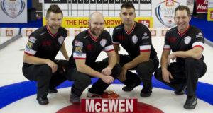 Skip: Mike McEwen Third: B.J. Neufeld Second: Matt Wozniak Lead: Denni Neufeld Curling Canada/michael burns photo