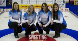 Skip: Val Sweeting Third: Lori Olson-Johns Second: Dana Ferguson Lead: Rachelle Brown Curling Canada/michael burns photo